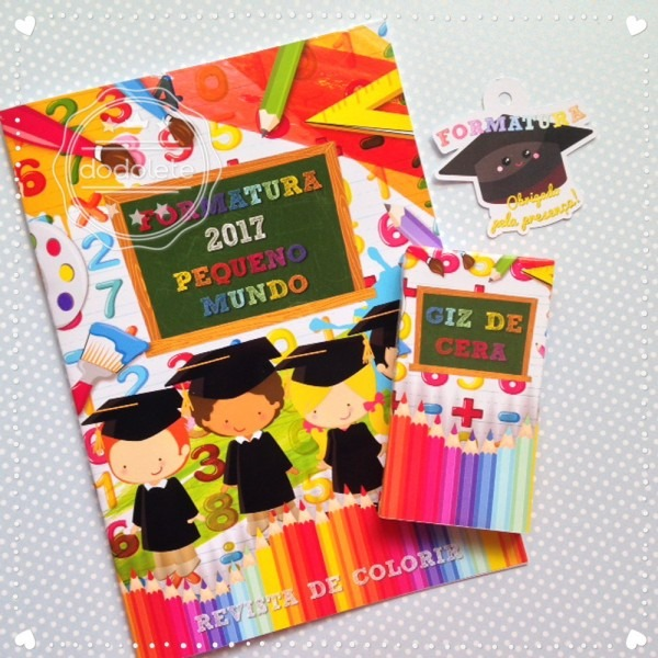 Revista de colorir formatura no elo7