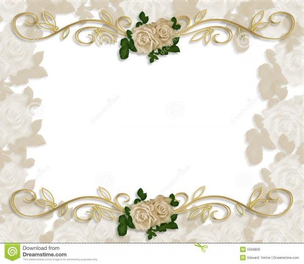 Rosas do victorian que wedding o convite ilustração stock