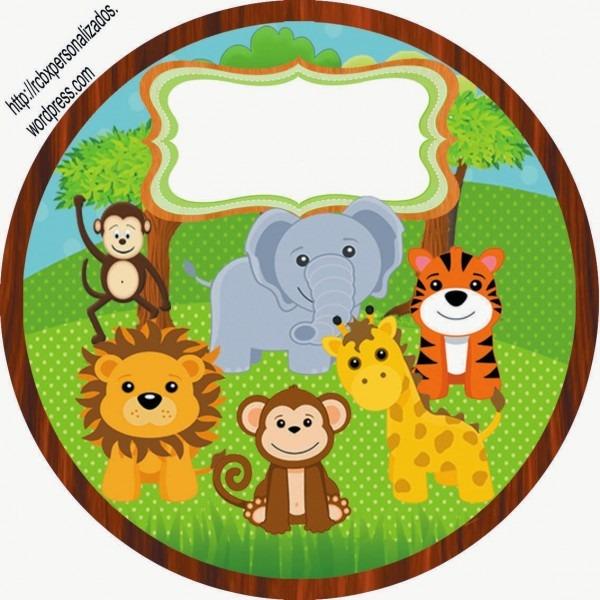 Lembrancinhas personalizadas da rcbx  safari – kit completo
