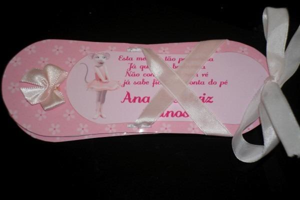 D cakes & festas  convite sapatilha angelina ballerina