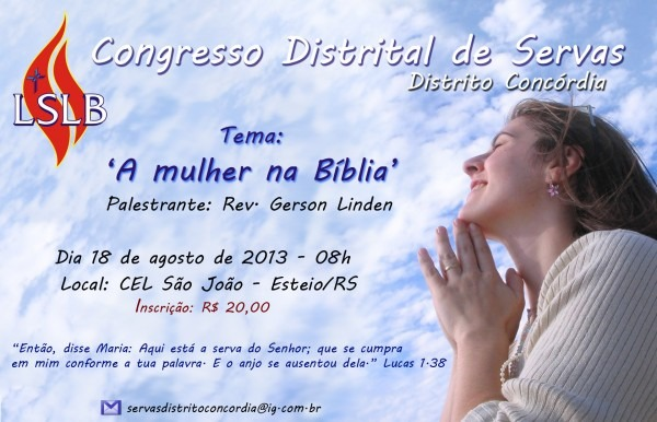 Convite para congresso de servas