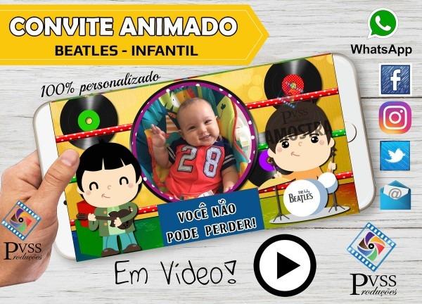 Video convite animado rock infantil no elo7