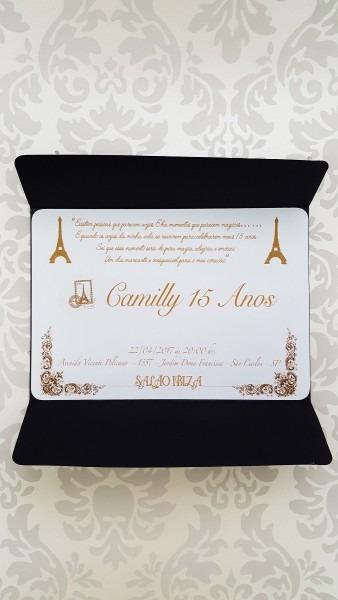 100 convite 15 anos tema paris