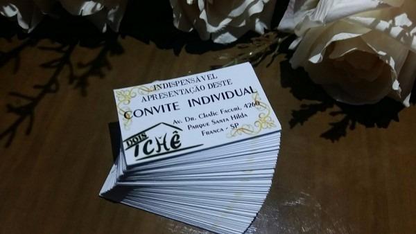 100 convite individual + 150 tag com furo casamento 3x5cm