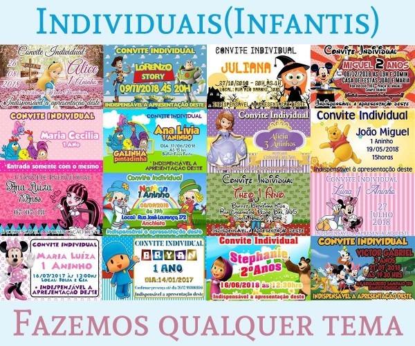 100 convite individual princesa sofia