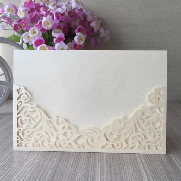 25pcs lot luxury golden laser cut wedding invitations elegant