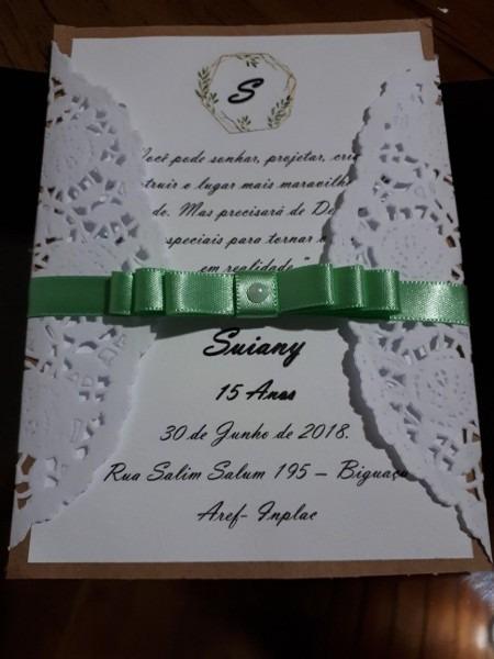 Convite dev15 anos  feito em casa