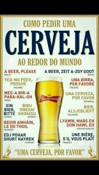 Como pedir uma cerveja ao redor do mundo