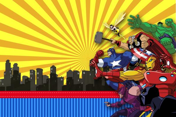 Convite super heróis vingadores 01 em png grátis para baixar