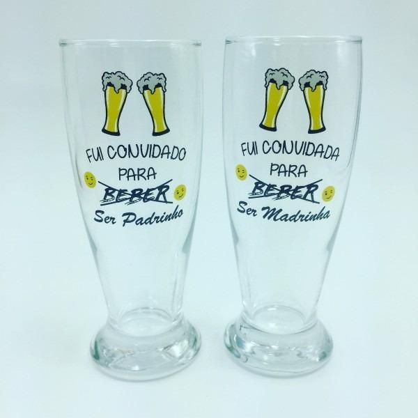 6 copos cerveja convite padrinhos casamento beber
