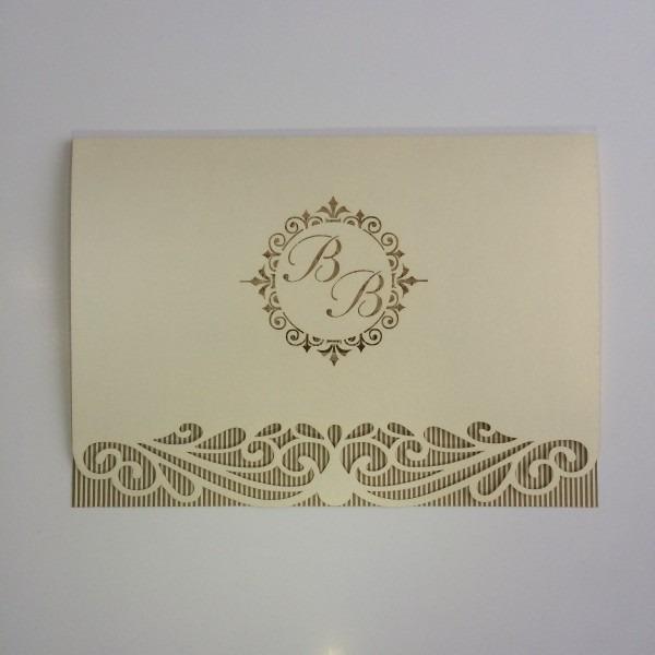 80 convites completo arabesco monograma 15 corte a laser