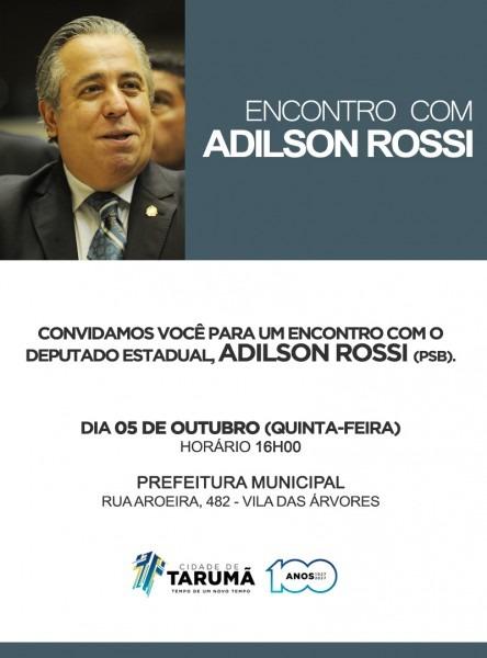 Convite deputado adilson rossi