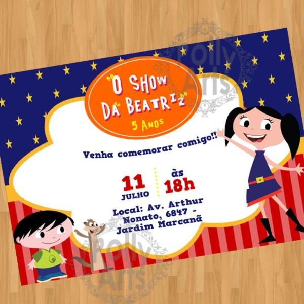 Arte convite digital virtual show da luna no elo7