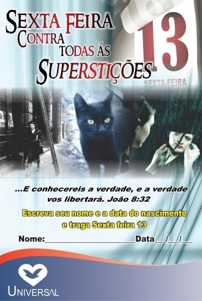 Sexta contra superstições
