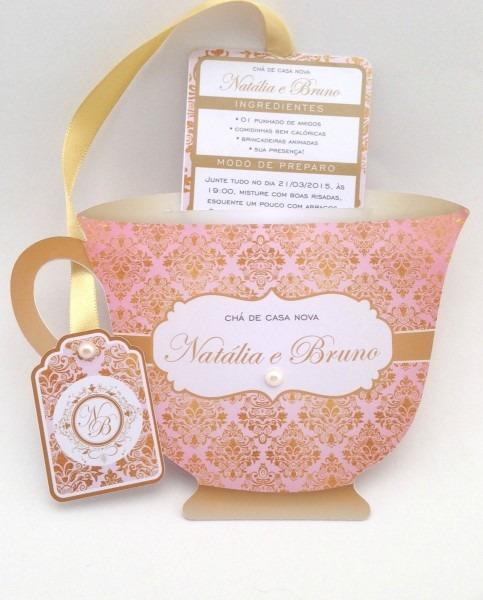 Convite chá de panelas cozinha