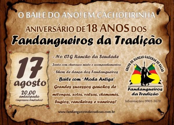 Notícias do tradicionalismo gaúcho  fandangueiros, 18 anos de história