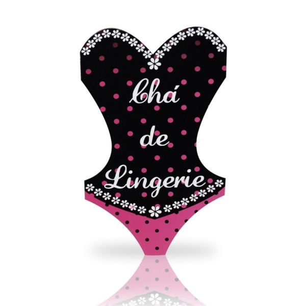 Convite chá de lingerie 08 unidades duster