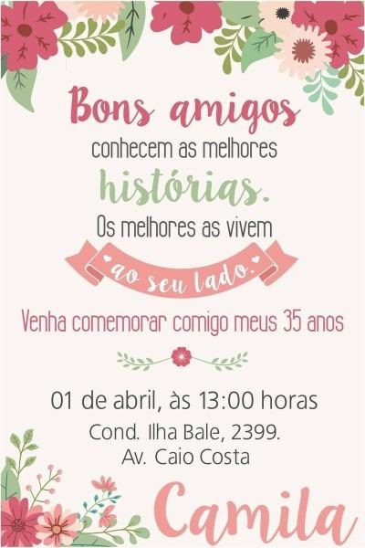 Convite aniversário