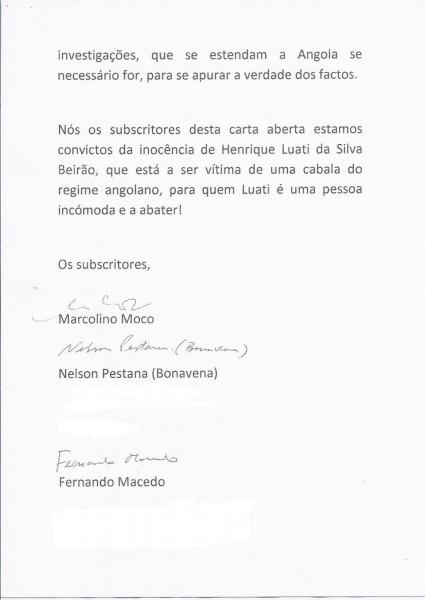 Sociedade civil angolana escreve ao pgr de portugal