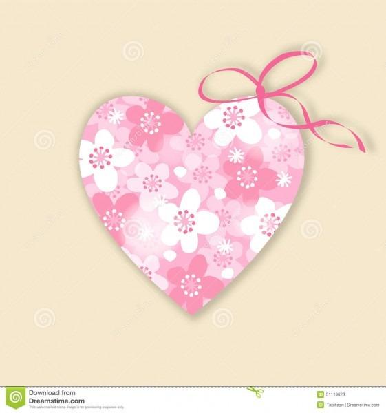 Casamento bonito, cartão de aniversário, convite com coração