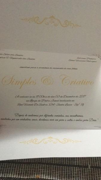Convites simples e criativo