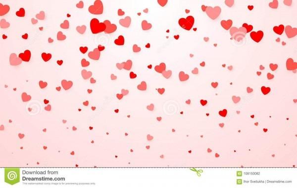 Confetes dos corações fundo do coração para o cartaz do projeto