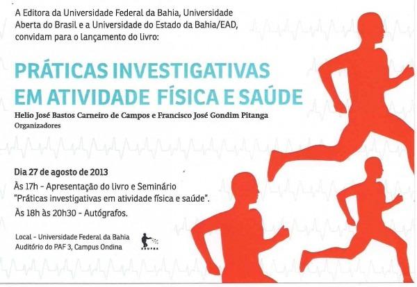 Seminário  praticas investigativas em atividade física e saúde