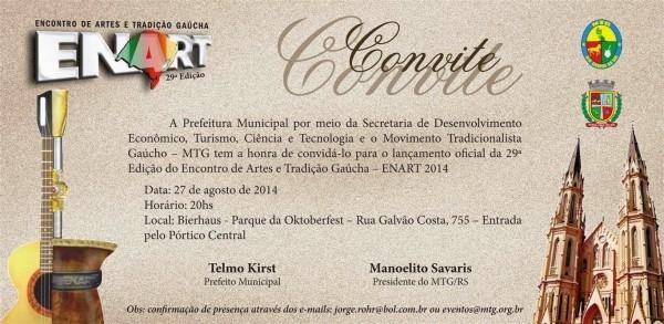 Chasque gaudério  lanÇamento enart 2014