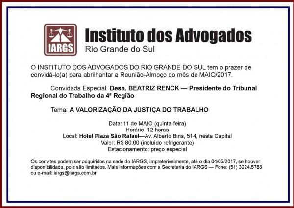 Iargs atual  convite reunião