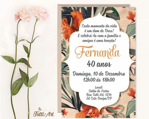 Convite 30 40 50 60 70 80 anos
