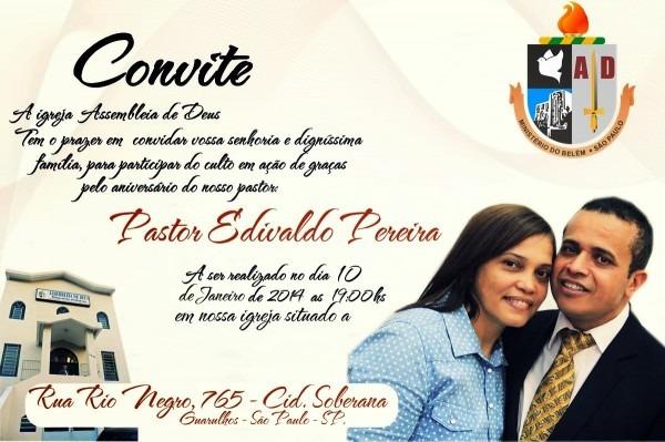 Convite aniversario de pastor 3 » happy birthday world