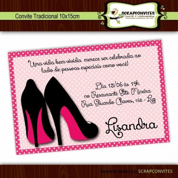 Convite aniversario feminino ltimas de anivers rio no elo7