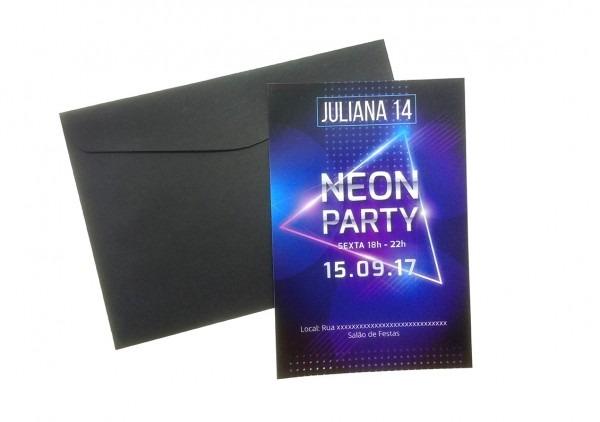 Convite balada neon party