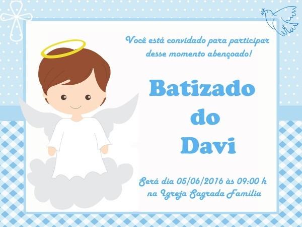 Convite batizado infantil menino menina no elo7