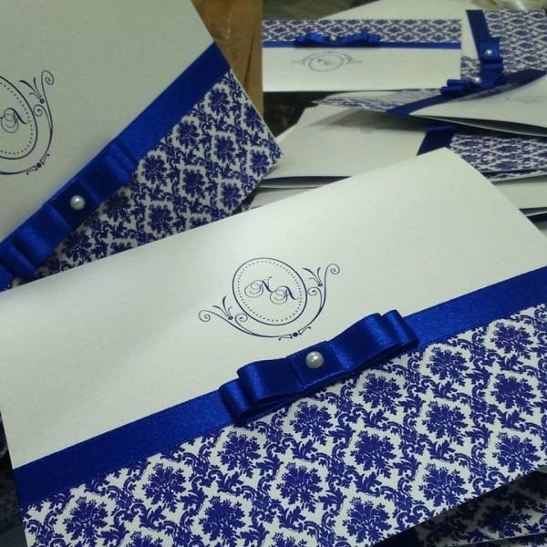 Convite blue no elo7