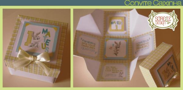Sorelle design  convite sinônimo de carinho