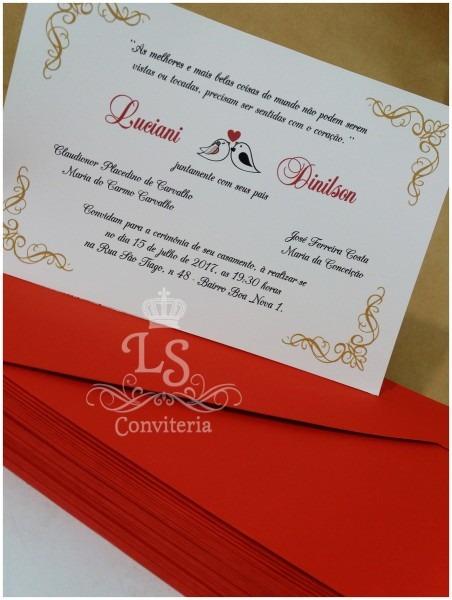 Convite casamento simples envelope no elo7