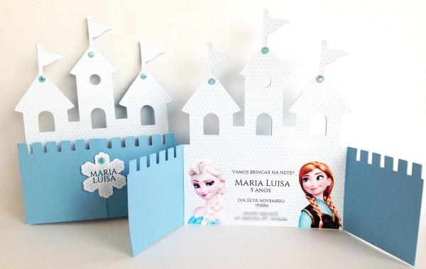 Convite castelo frozen no elo7