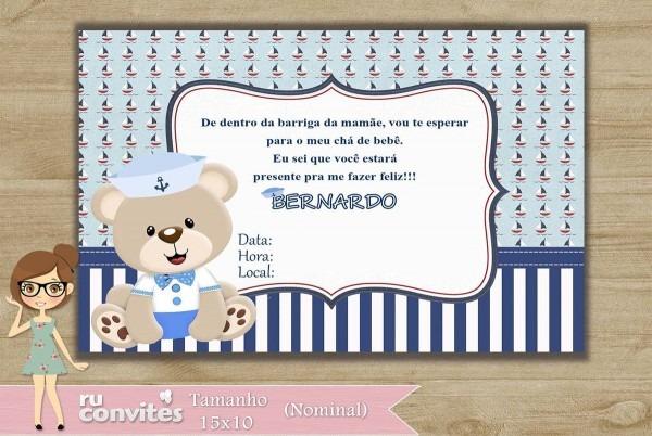 Convite chá de bebê (508) no elo7