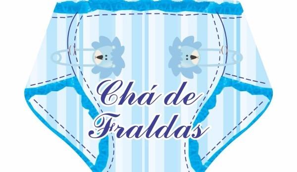 Convite chá de fraldas masculino (com 40 unidades)