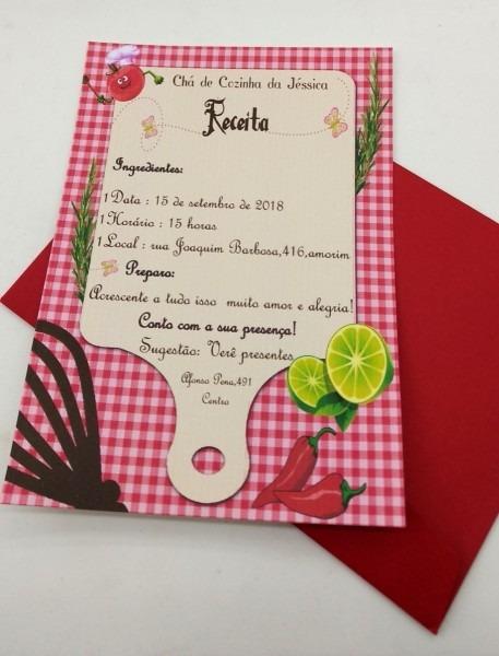 Convite chá panela personalizado