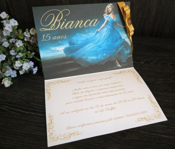 Convite cinderela 15 anos 01