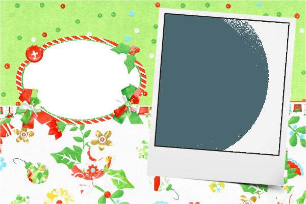 Convite com foto fundo natal verde e branco