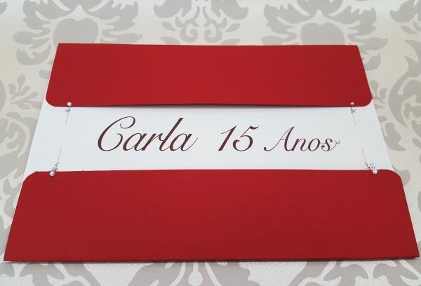 Convite de 15 anos, 15 anos vermelho c 95