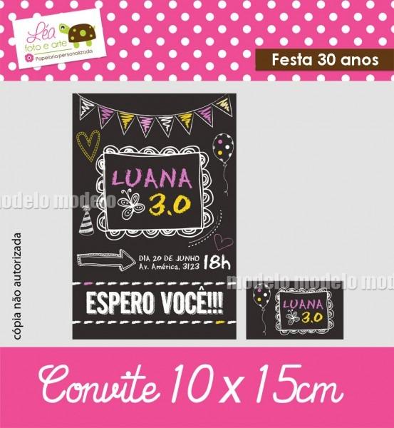 Convite de aniversario 30 anos gratis 6 » happy birthday world