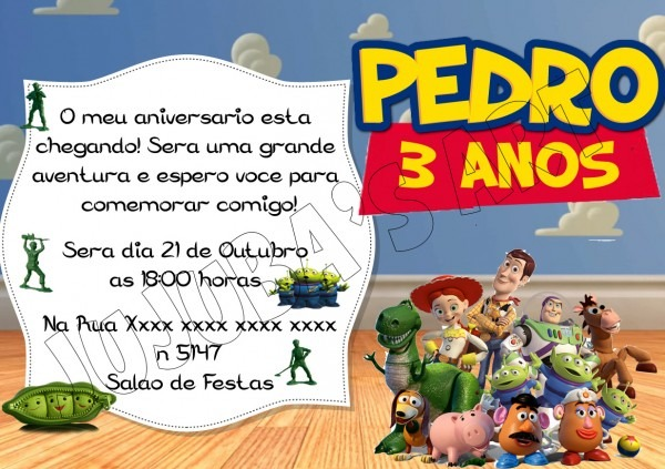 Convite de aniversario toy story 6 » happy birthday world