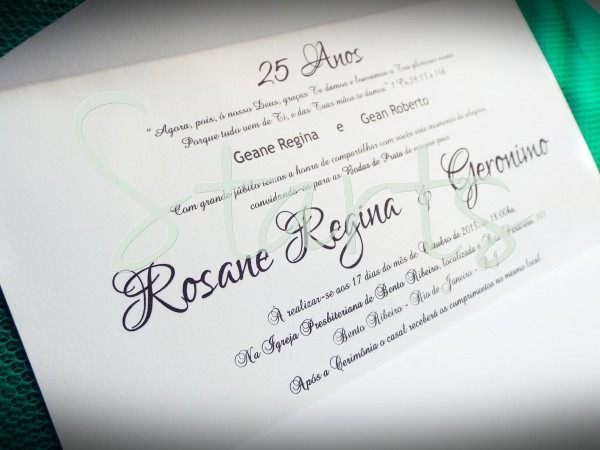 Convite de bodas personalizado no elo7