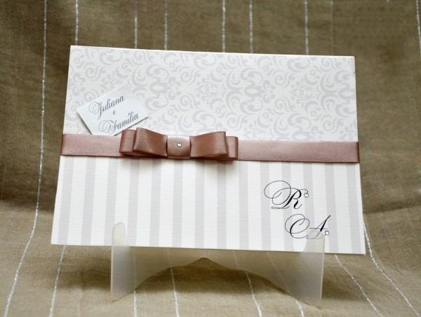 Convite de casamento clássico simples no elo7