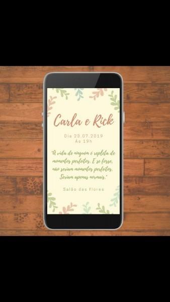 Convite de casamento colors (digital) no elo7