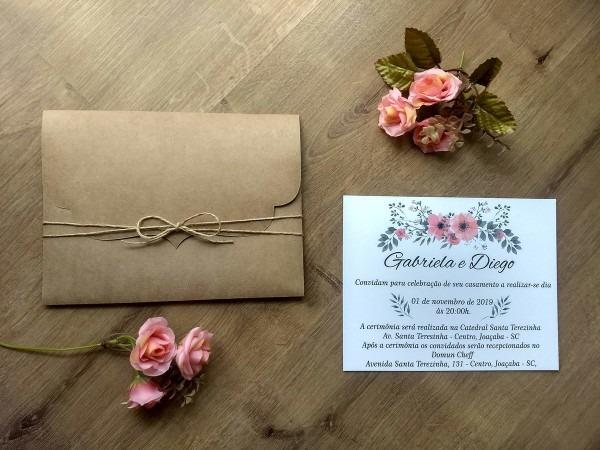 Convite de casamento no elo7